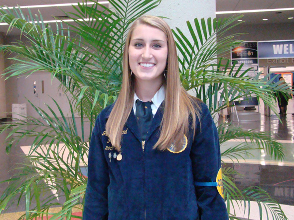 Josey Cleveland of the Henrietta FFA served as a member of the courtesy corps at the Texas FFA State Convention July 8-12.