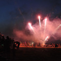 Revelers at Hapgood Park in Henrietta celebrate Independence Day on Friday.